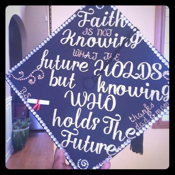 other customized graduation cap poshmark